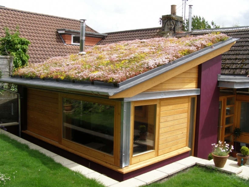 Green roof and garden office