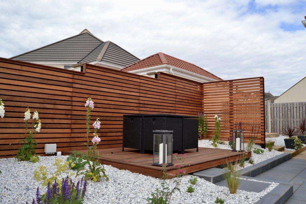 Modern garden in Strathkiness